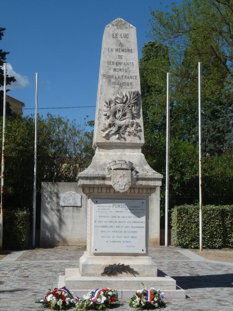 Mercredi 17 août, cérémonie anniversaire de la Libération du Luc