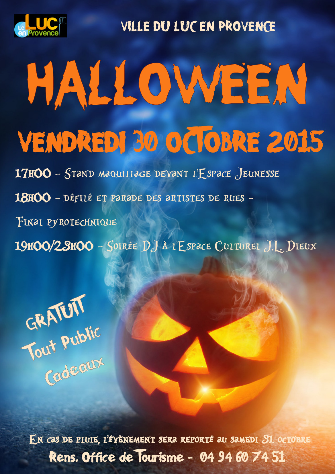 Vendredi 30 octobre, Halloween