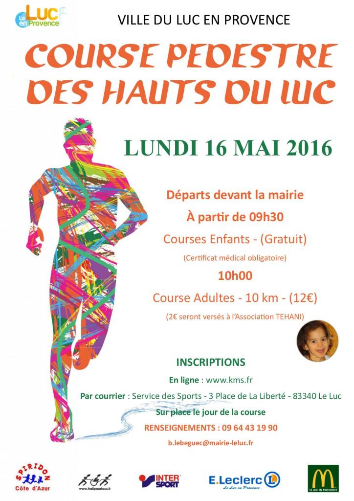 Lundi 16 mai, Course pédestre des Hauts du Luc
