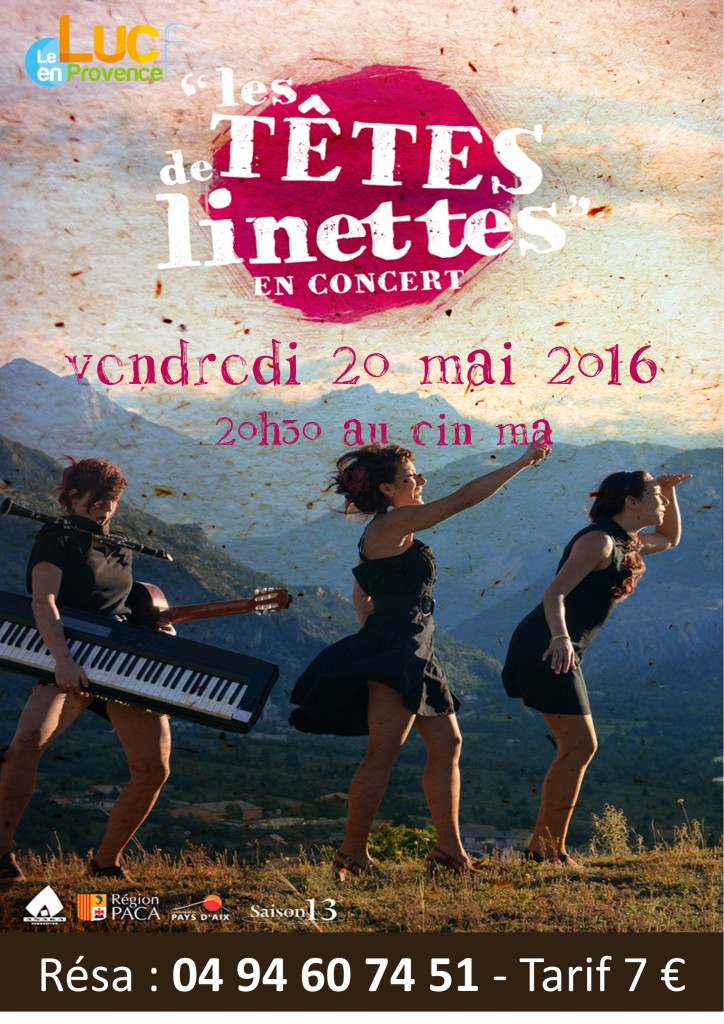 Vendredi 20 mai, Concert « Les Têtes de Linettes »