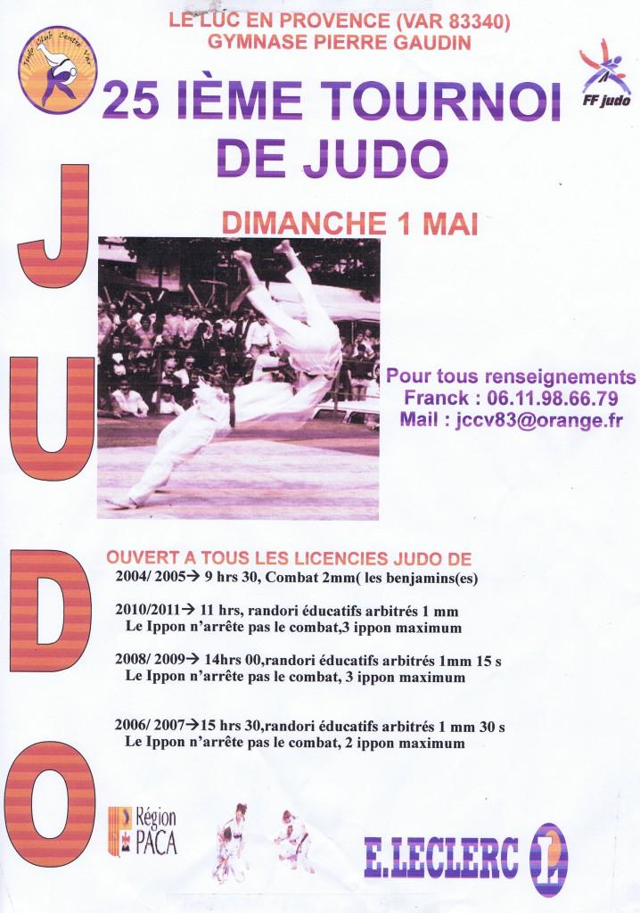Dimanche 1er mai, tournoi de judo