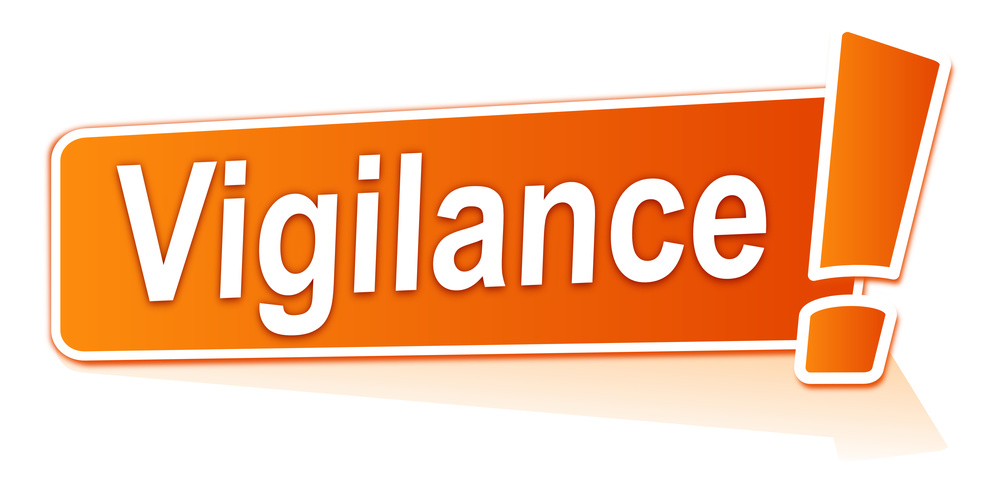 vigilance sur tiquette orange
