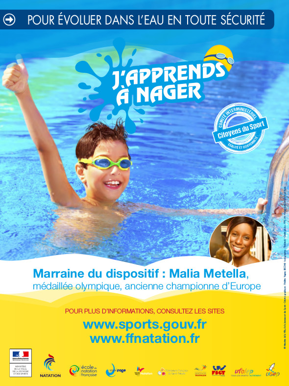 Du 1er au 12 août et du 15 au 26 août, Opération « J'apprends à nager »