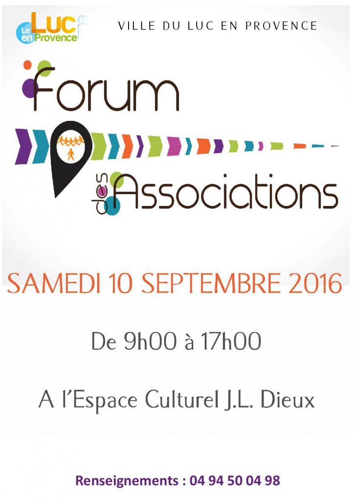 Samedi 10 septembre, Forum des Associations