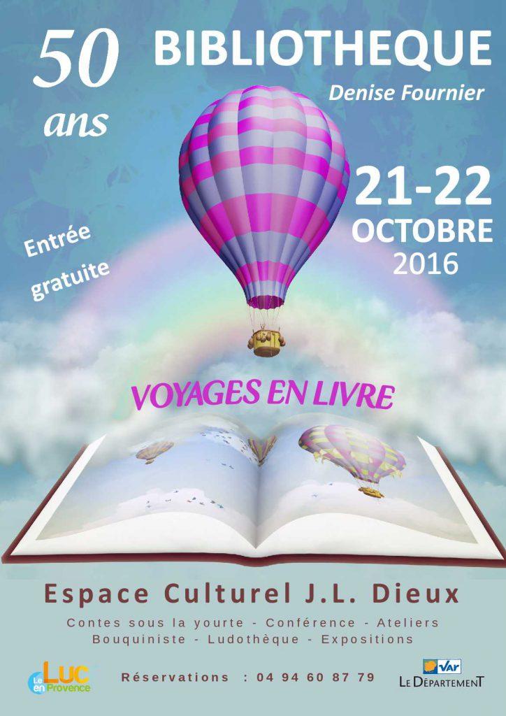 Vendredi 21 et samedi 22 octobre, 50 ans de la bibliothèque