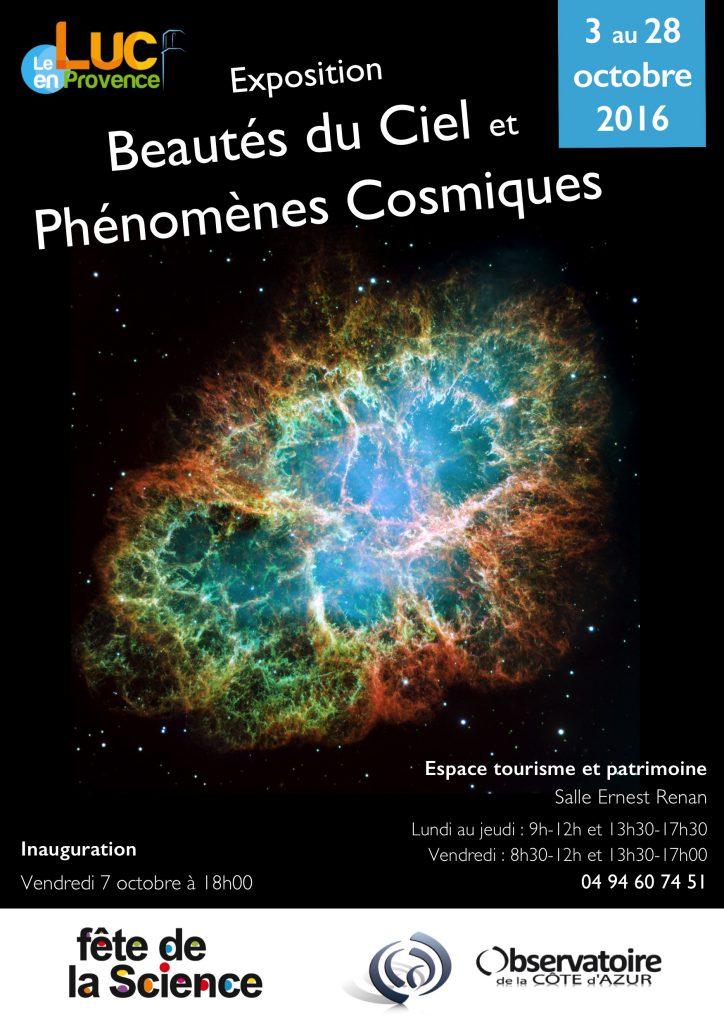 Du 3 au 28 octobre, Exposition Beautés du Ciel et Phénomènes Cosmiques