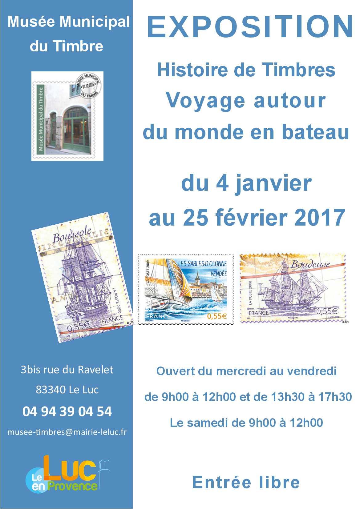 Du mercredi 4 janvier au samedi 25 février, Exposition « Voyage autour du monde en bateau »