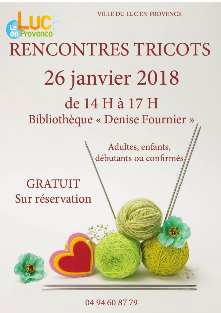 Vendredi 26 janvier, rencontres tricots