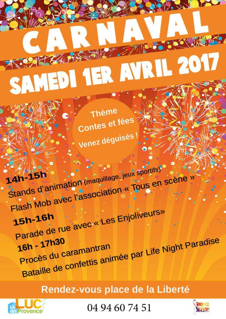 Samedi 1er avril, Carnaval