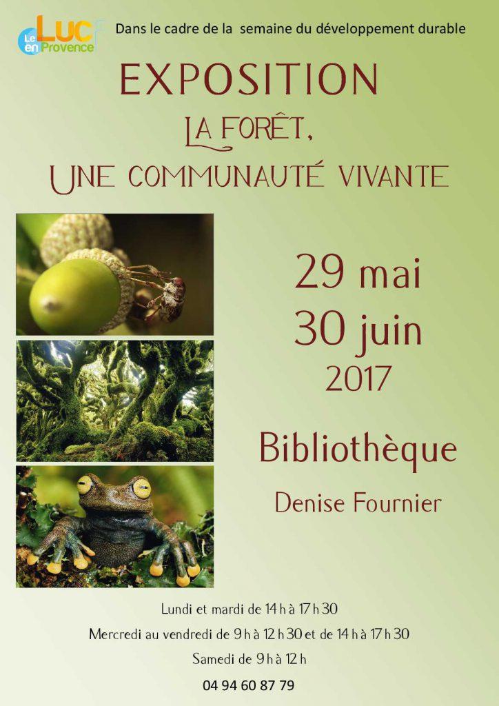 Du 29 mai au 30 juin 2017, Exposition La forêt, une communauté vivante