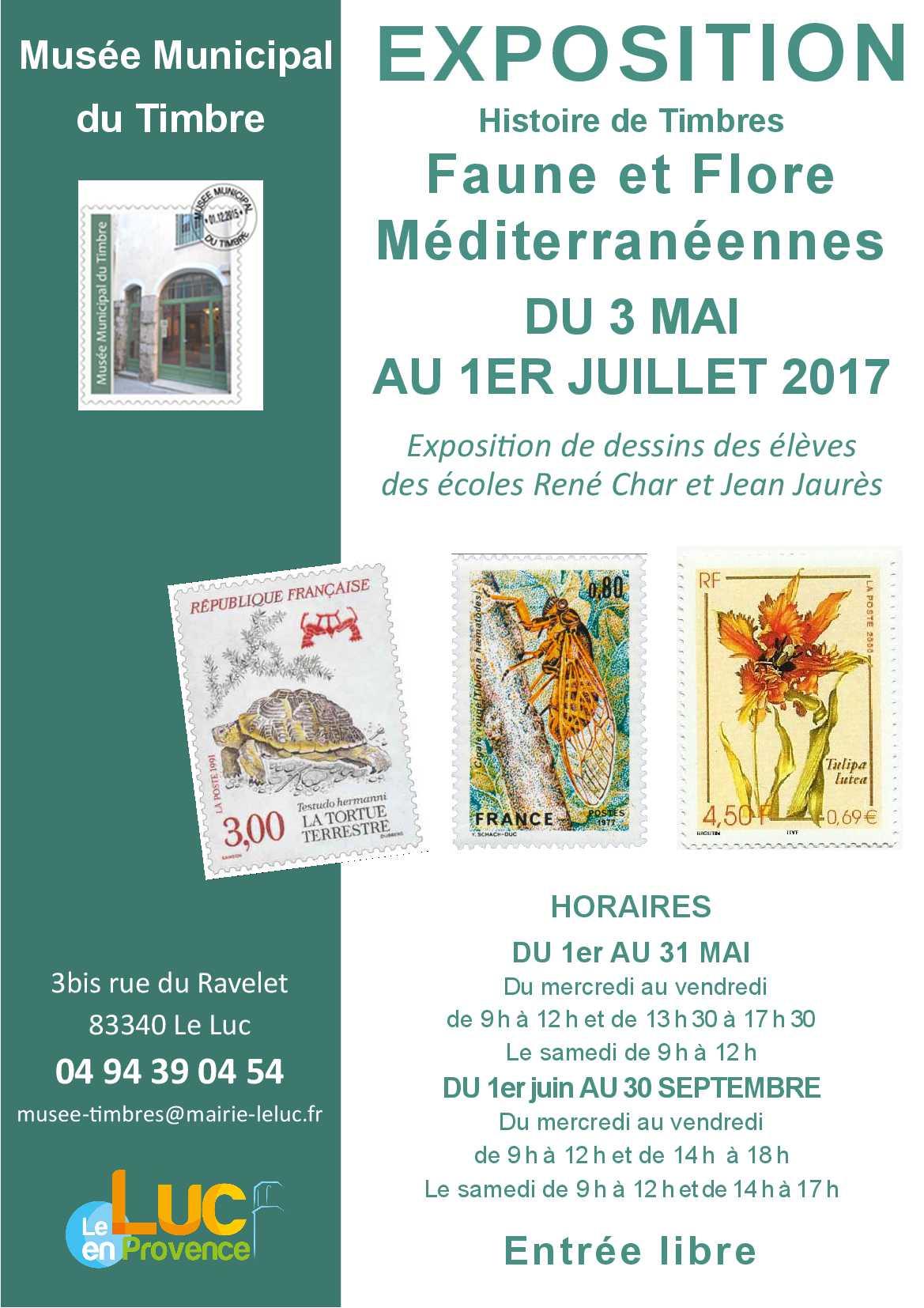 Du 3 mai au 1er juillet – Exposition faune et flore méditerranéennes