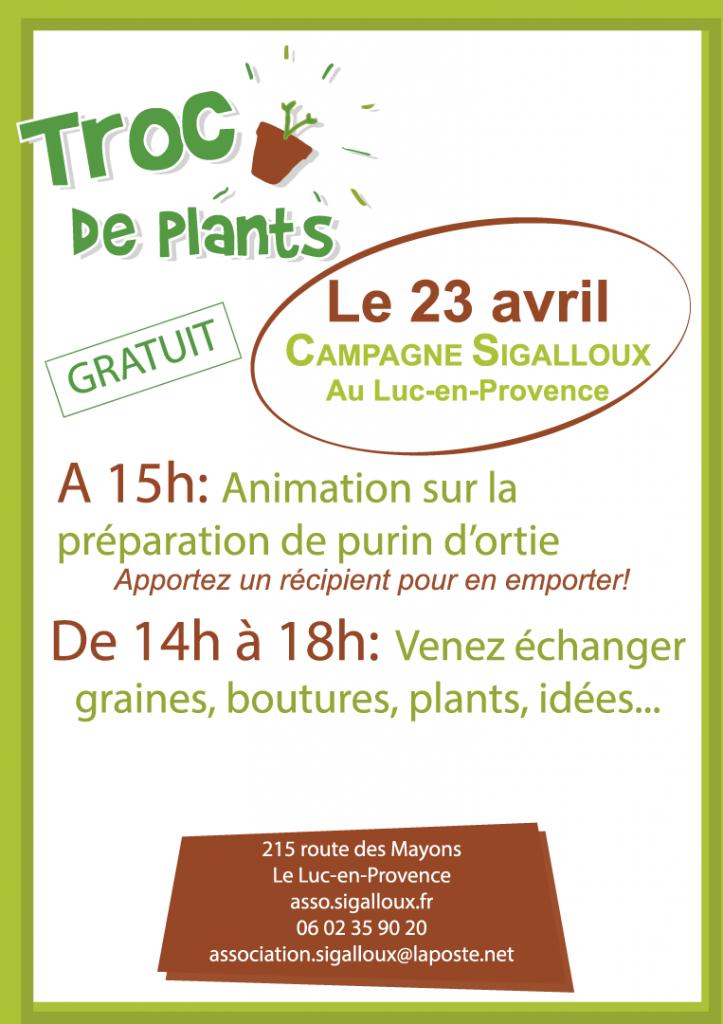 23 avril, Trocs de plants