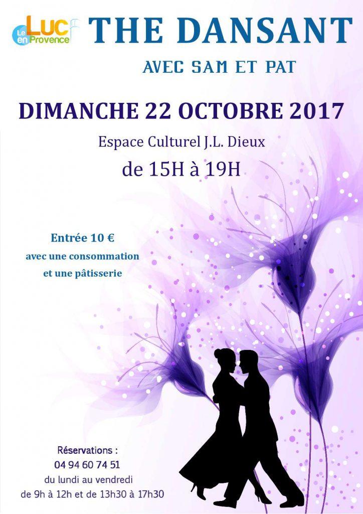 Dimanche 22 octobre, Thé dansant