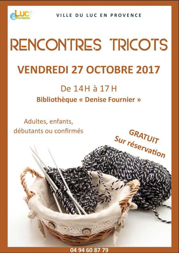 Vendredi 27 octobre, Rencontres Tricots