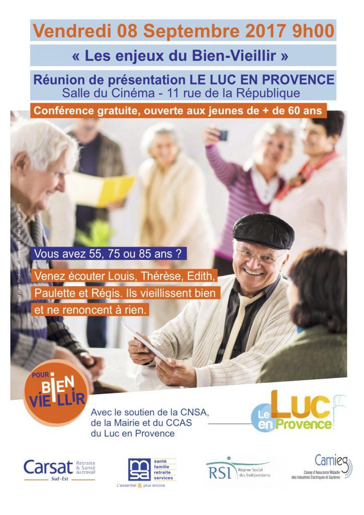 Vendredi 8 septembre, conférence sur les enjeux du bien-vieillir