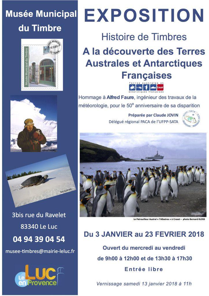 Du 3 janvier au 23 février, «Histoire de Timbres: A la découverte des terres australes et antarctiques françaises »