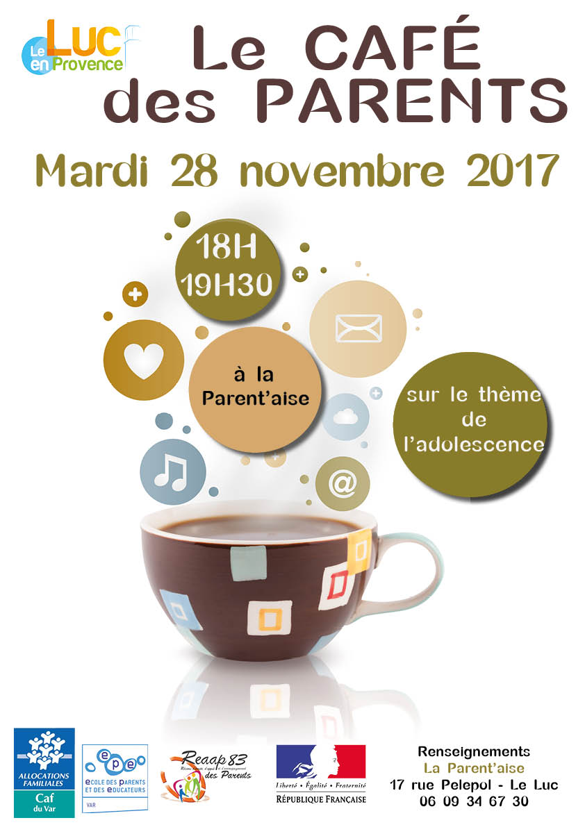 Mardi 28 novembre, Café des parents