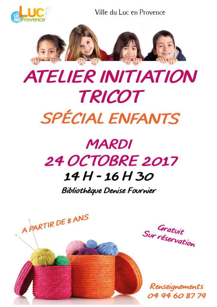 Mardi 24 octobre, Atelier initiation tricot «spécial enfants»