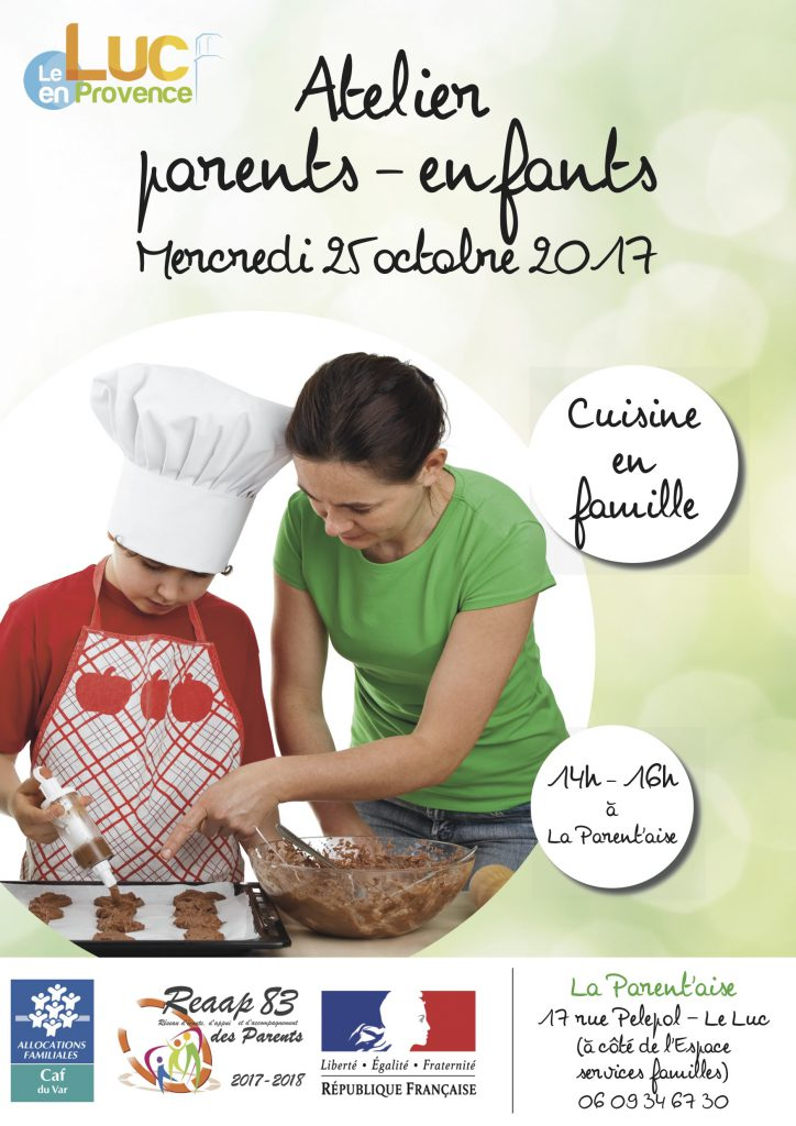Mercredi 25 octobre, Atelier parents-enfants