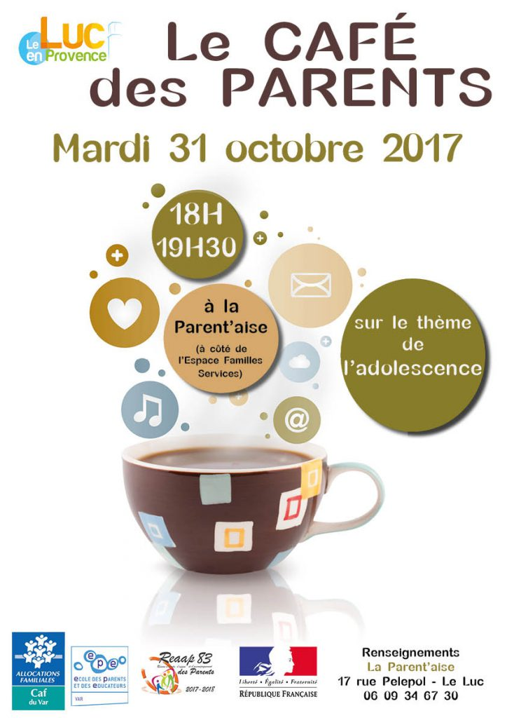 Mardi 31 octobre, Café des parents