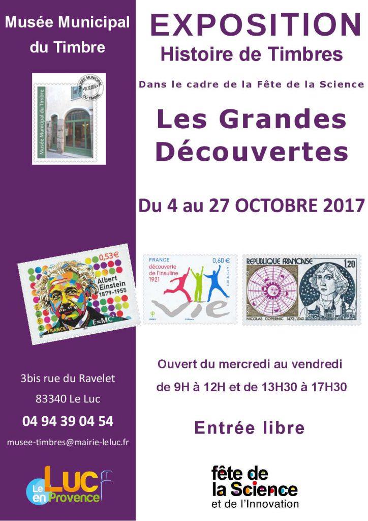Du 4 au 27 octobre, Exposition «Histoire de Timbres: Les grandes découvertes»