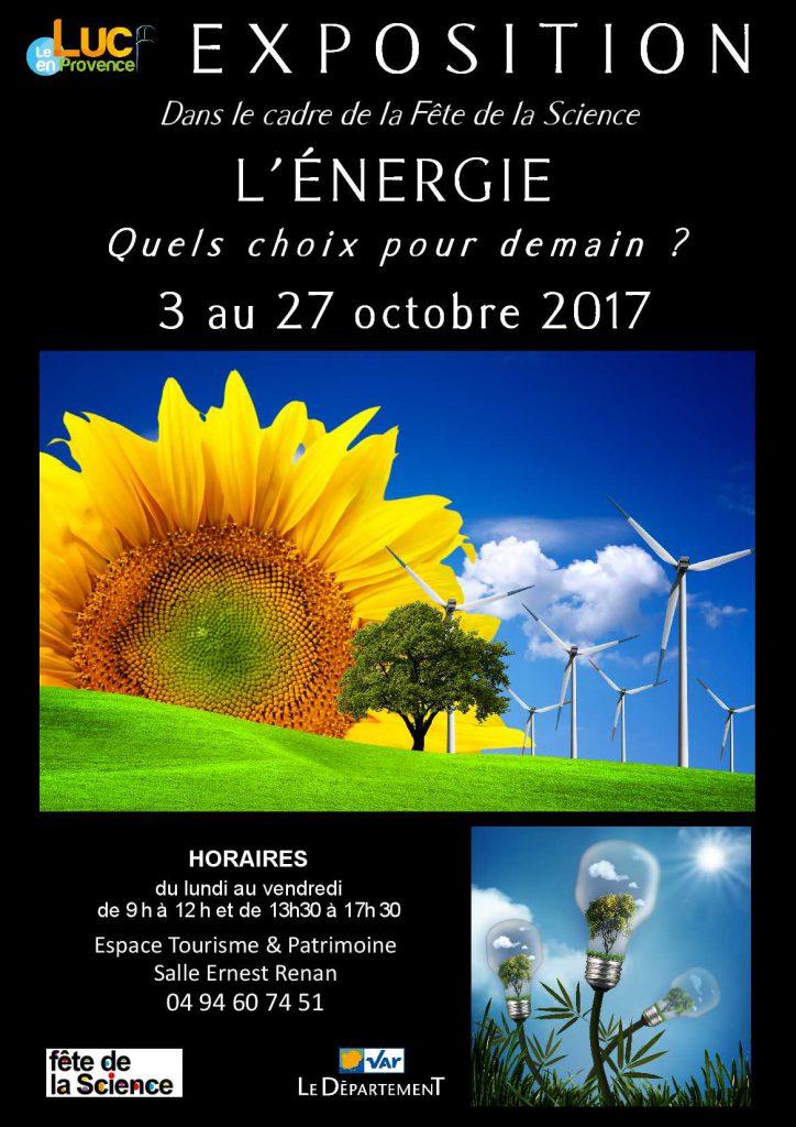 Du 3 au 27 octobre, Exposition «L'énergie : quels choix pour demain ?»