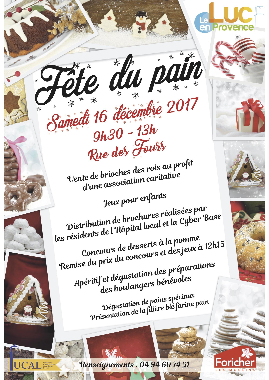 Samedi 16 décembre, Fête du pain