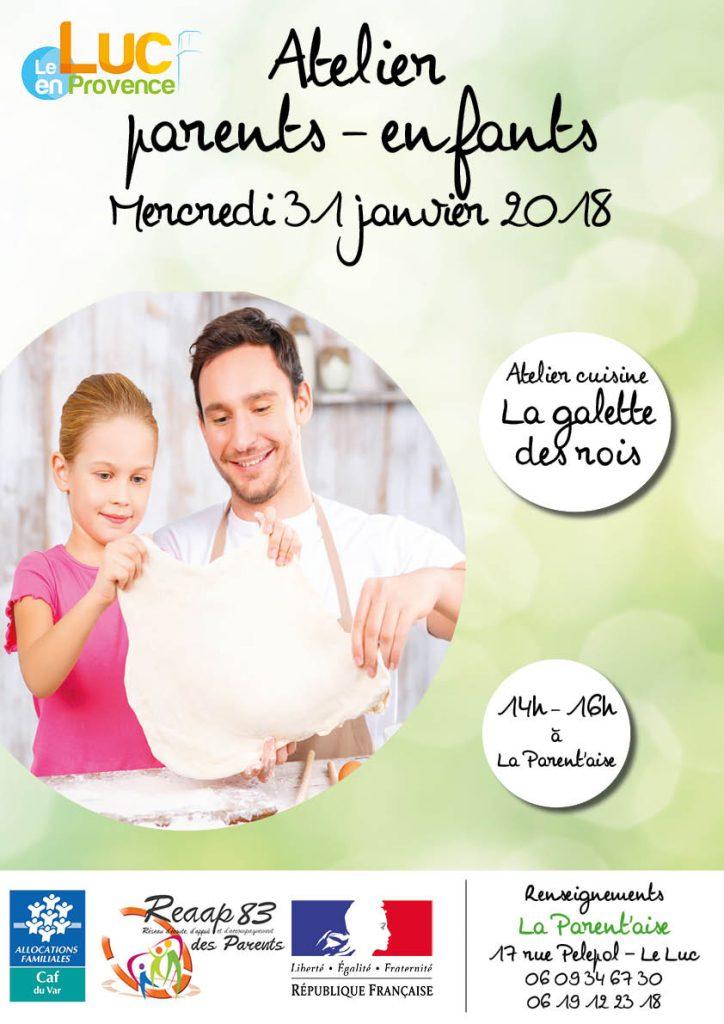 Mercredi 31 janvier, Atelier parents-enfants