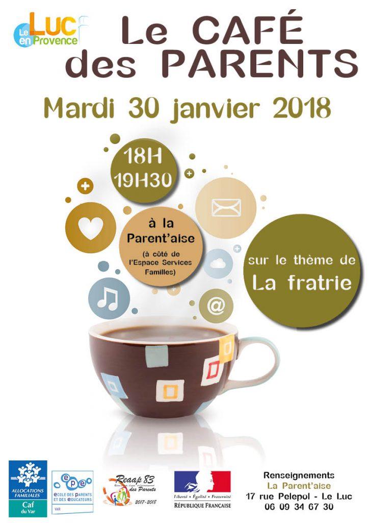 Mardi 30 janvier, Café des parents