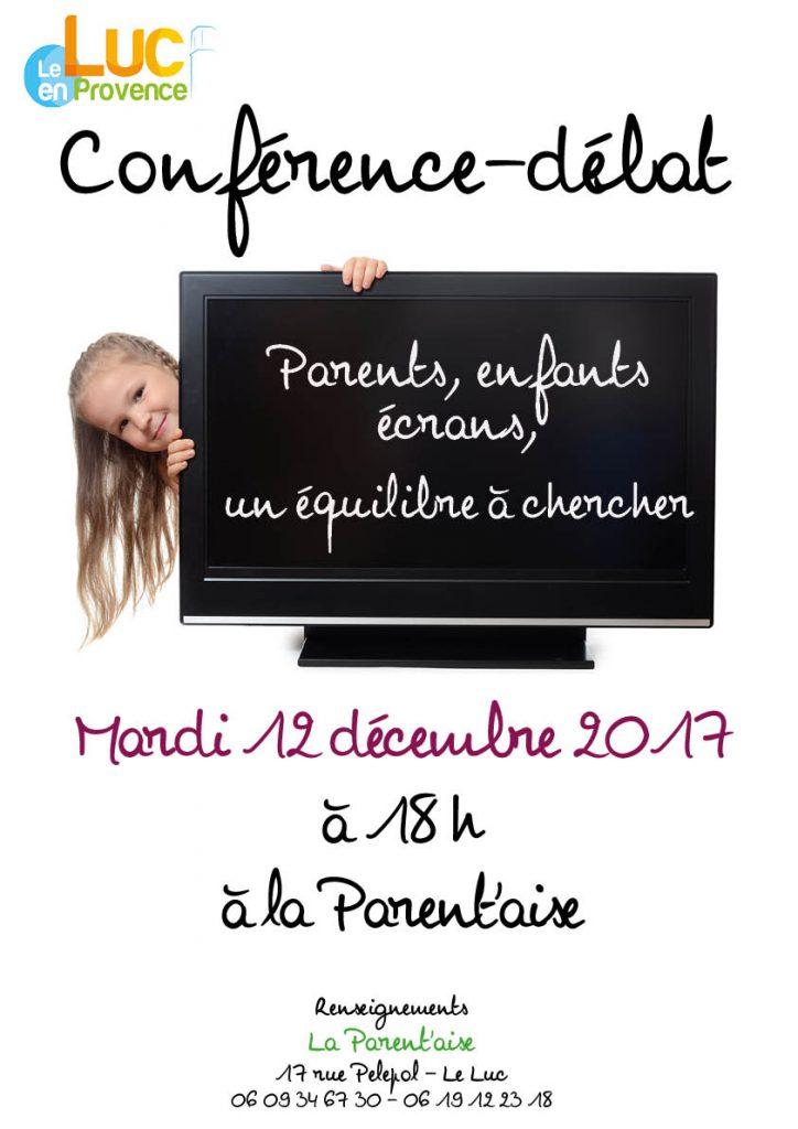 Mardi 12 décembre, Conférence – débat sur les écrans