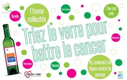 Triez le verre pour battre le cancer !