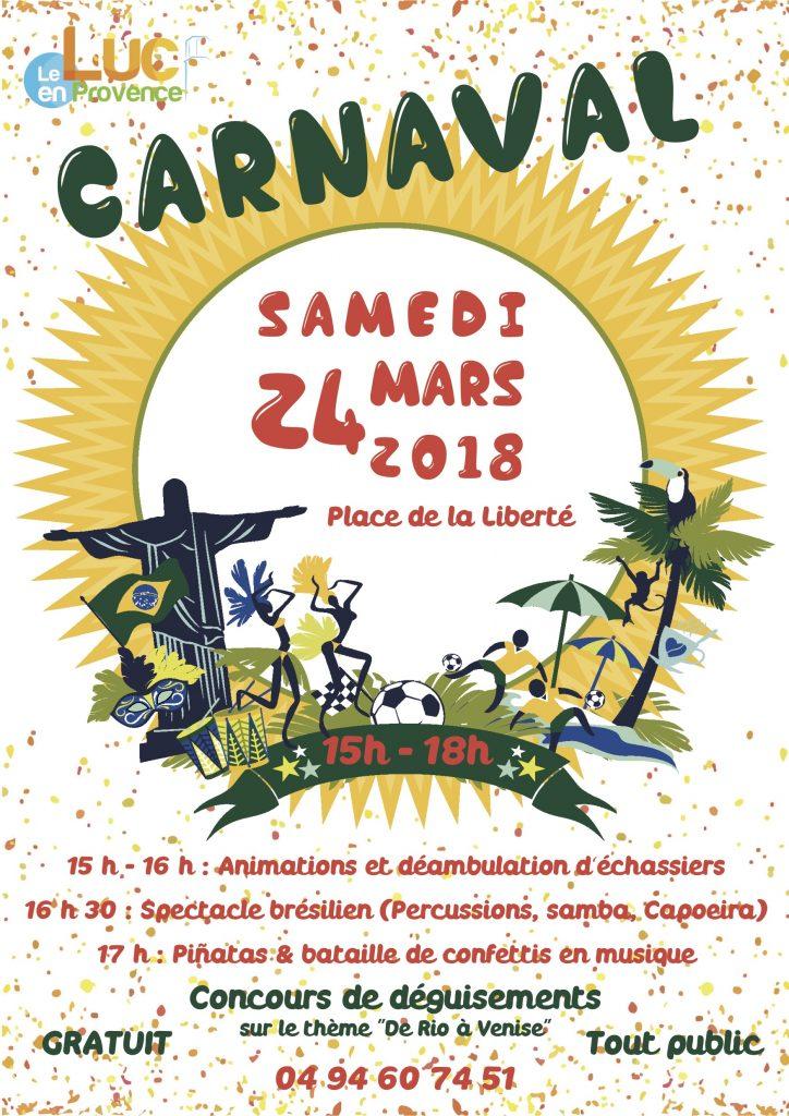 Samedi 24 avril, Carnaval