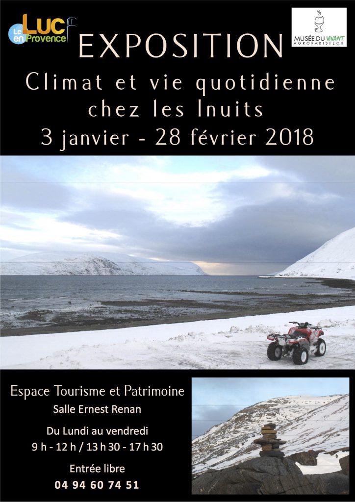 Du 3 janvier au 28 février, Exposition Climat et vie quotidienne chez les Inuits