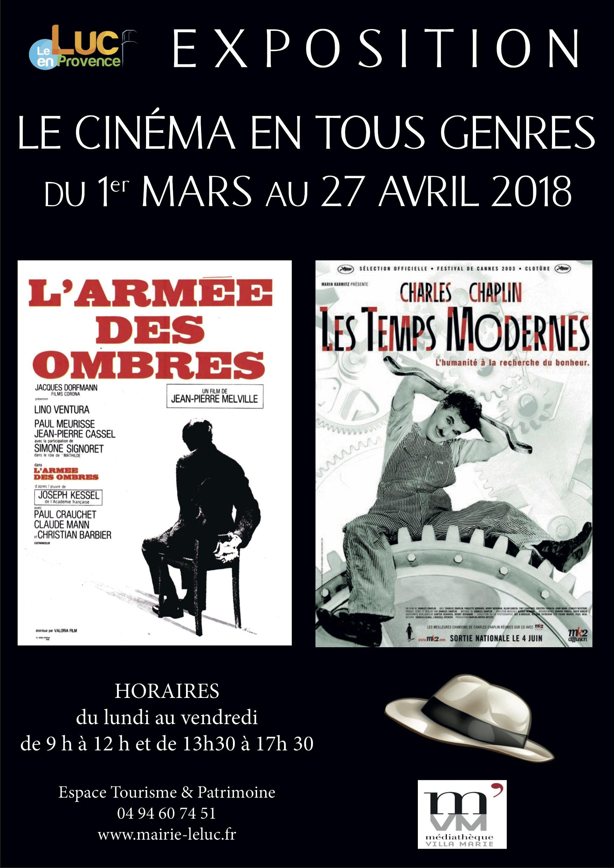 Jusqu'au 27 avril, Le cinéma en tous genres