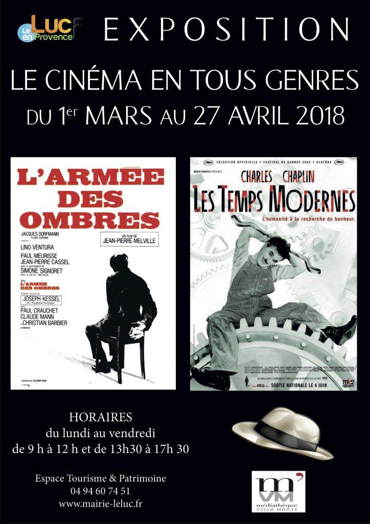 Du 1er mars au 27 avril, Le cinéma en tous genres