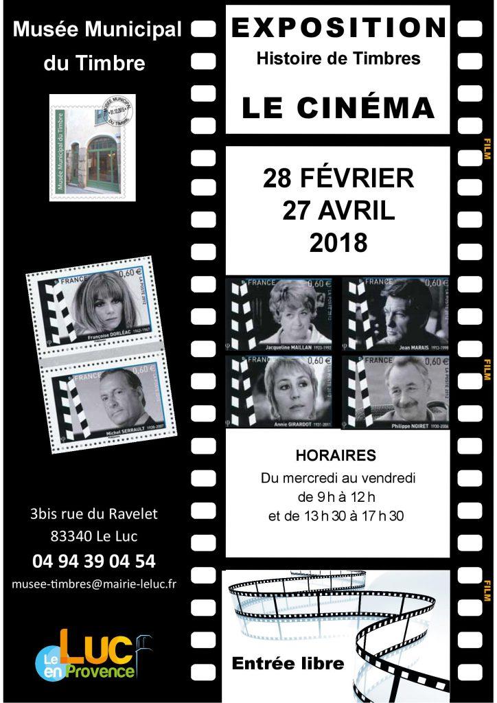 Du 28 février au 27 avril, Exposition « Le cinéma »