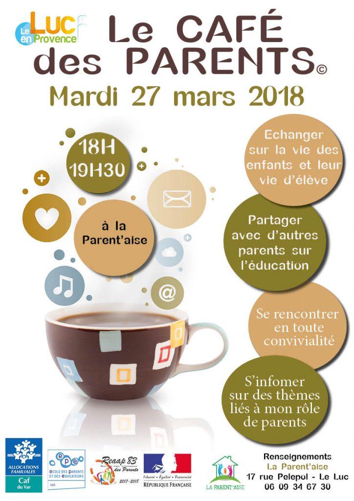 Mardi 27 mars, Café des parents