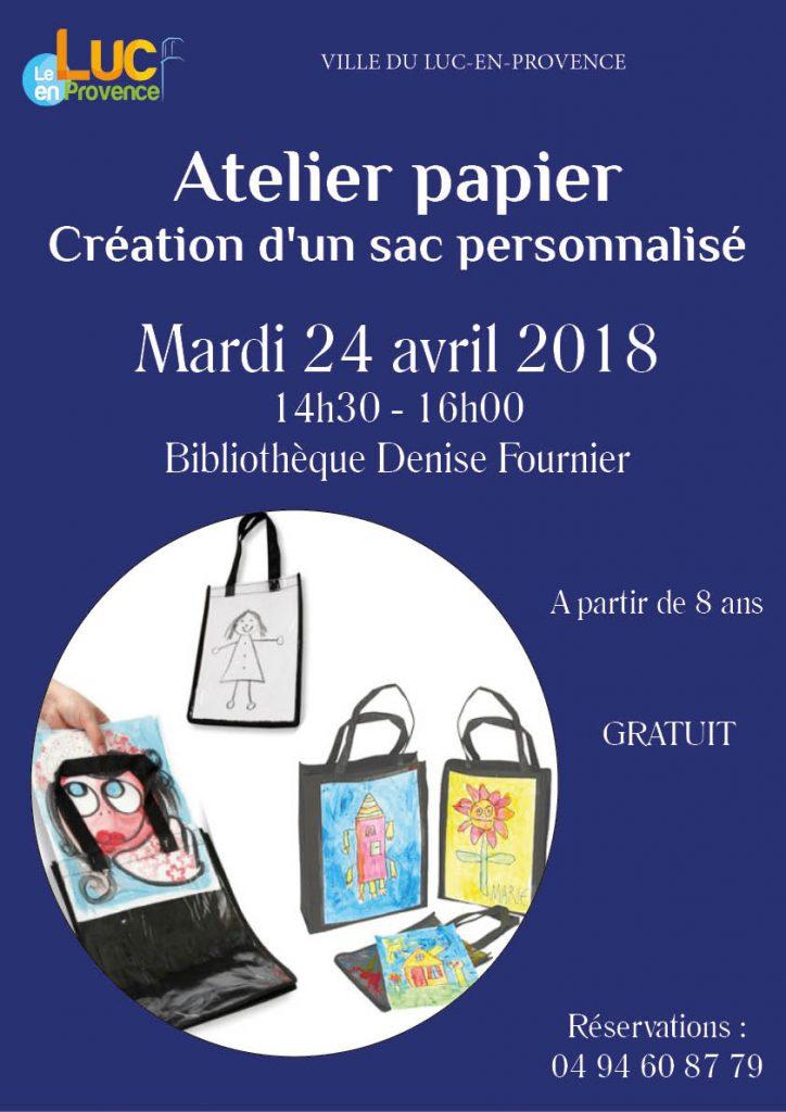 Mardi 24 avril, Atelier papier