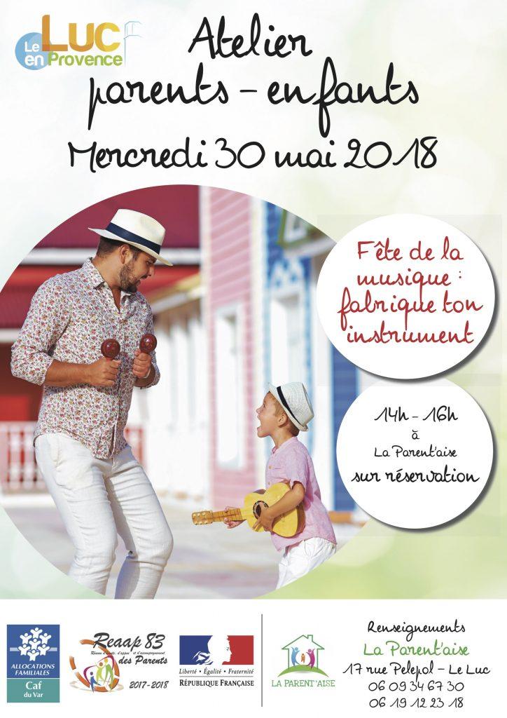 Mercredi 30 mai, Atelier parents-enfants