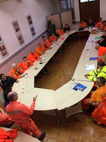 Samedi 17 février, Les Comités Communaux des Feux de Forêt en formation au Luc-en-Provence