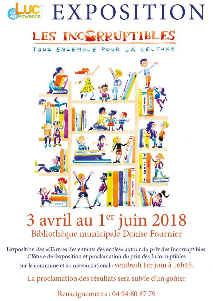 Jusqu'au 1er juin, Exposition des « Œuvres des enfants des écoles » autour du prix des Incorruptibles