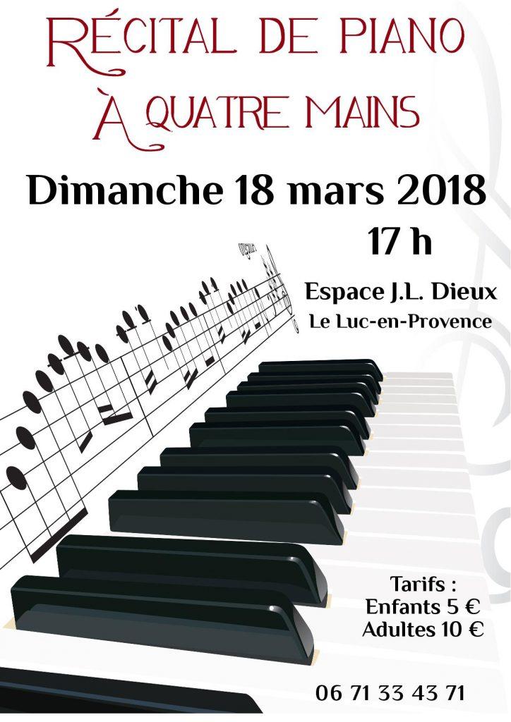 Dimanche 18 mars, récital de piano à quatre mains