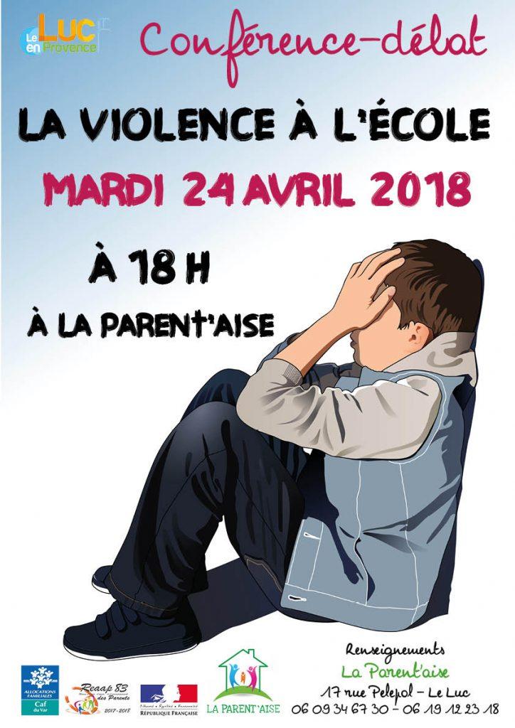 Mardi 24 avril, Conférence–débat sur le thème de la violence à l'école