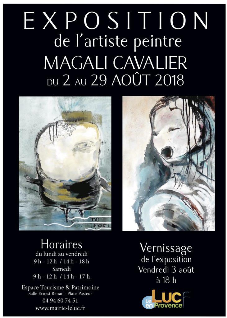 Du 2 au 29 août, Exposition de l'artiste peintre Magali Cavalier