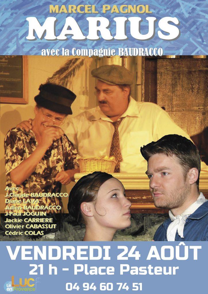 Vendredi 24 août, Théâtre « Marius, la partie de cartes »