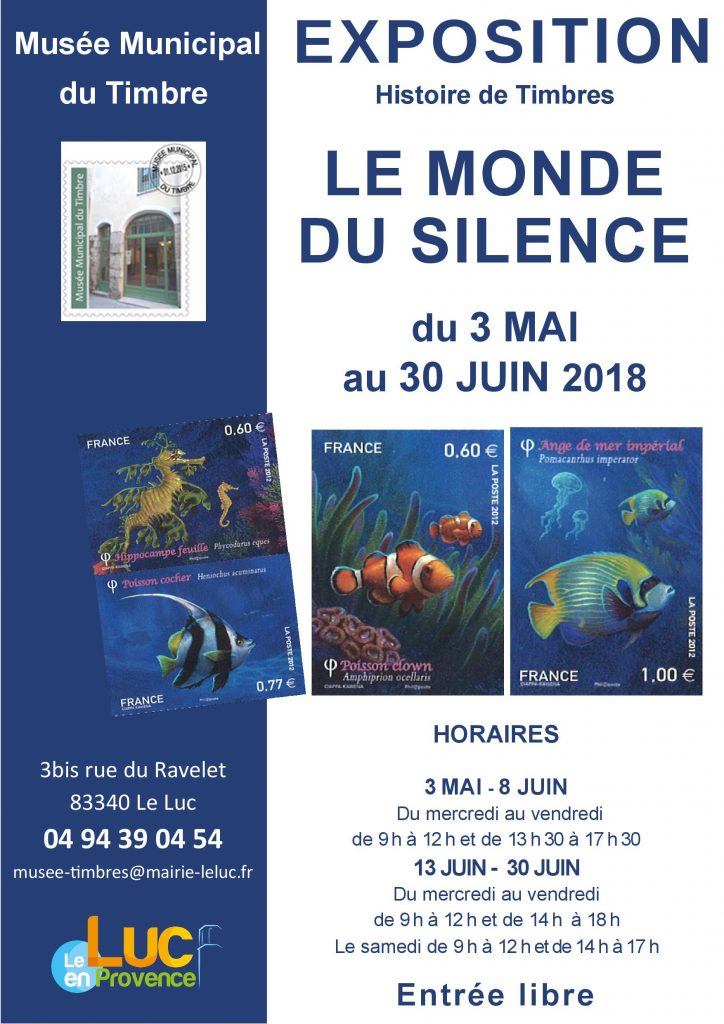 Du 3 mai au 30 juin, Exposition Le monde du silence