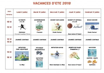 Inscriptions au stage « INITIATION SPORTS »
