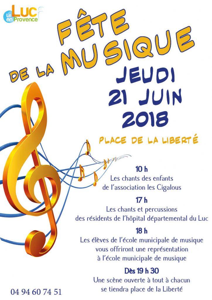Jeudi 21 juin, Fête de la musique