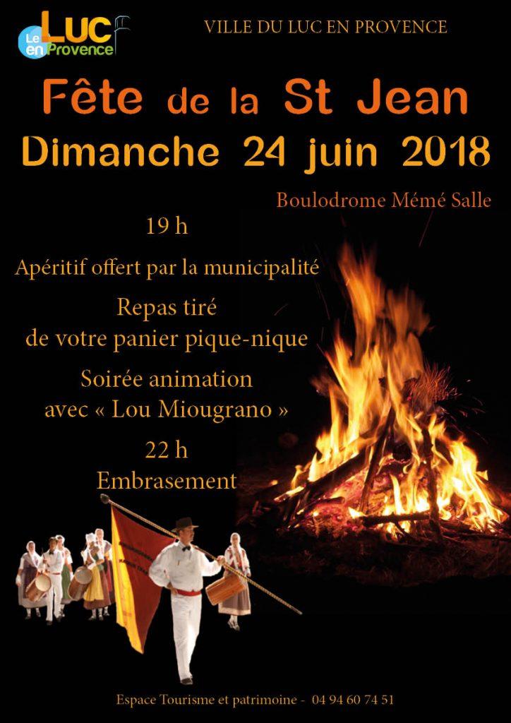 Dimanche 24 juin, fête de la St Jean