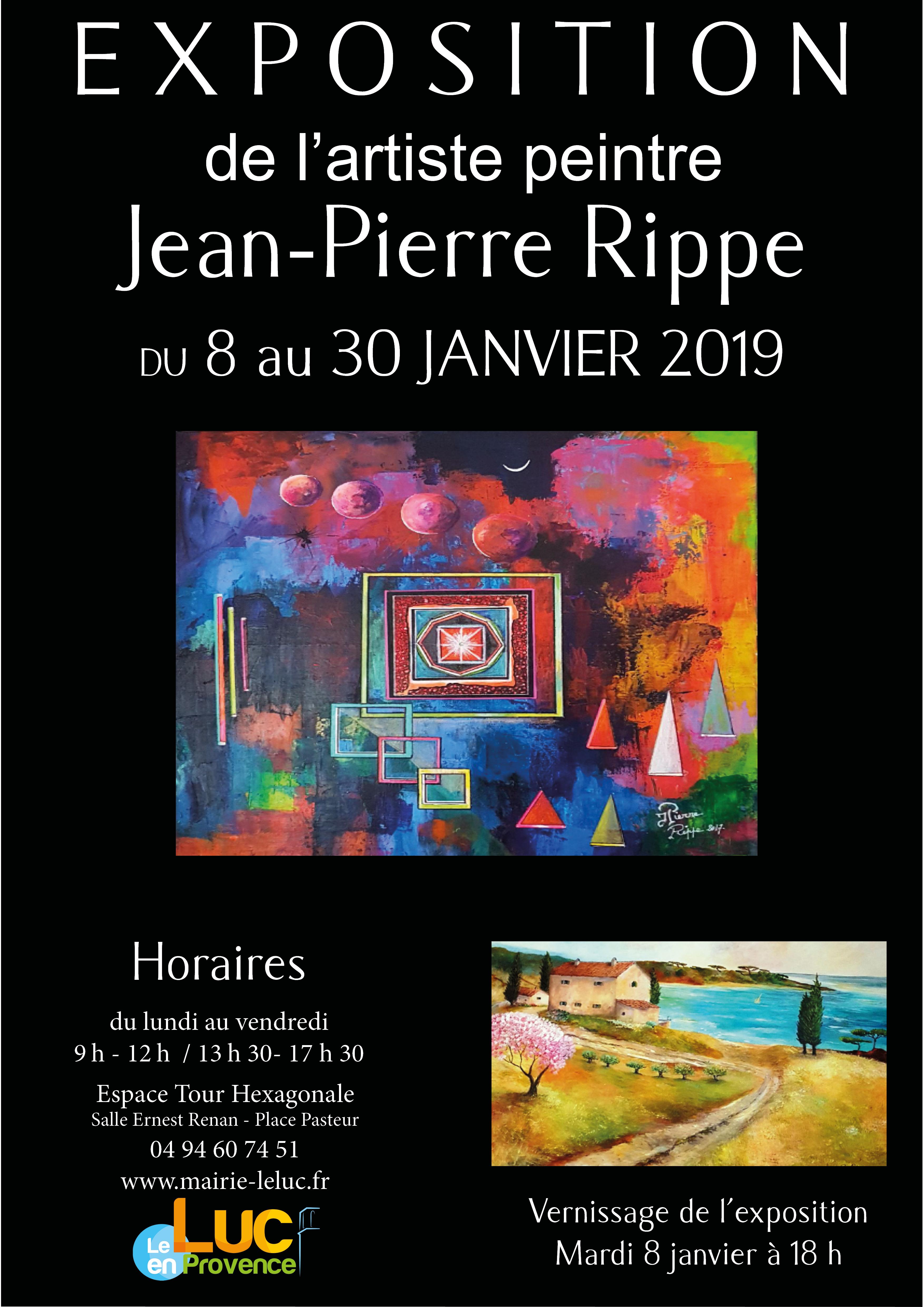 Du 8 Au 30 Janvier Exposition De Peinture De Lartiste Jean Pierre